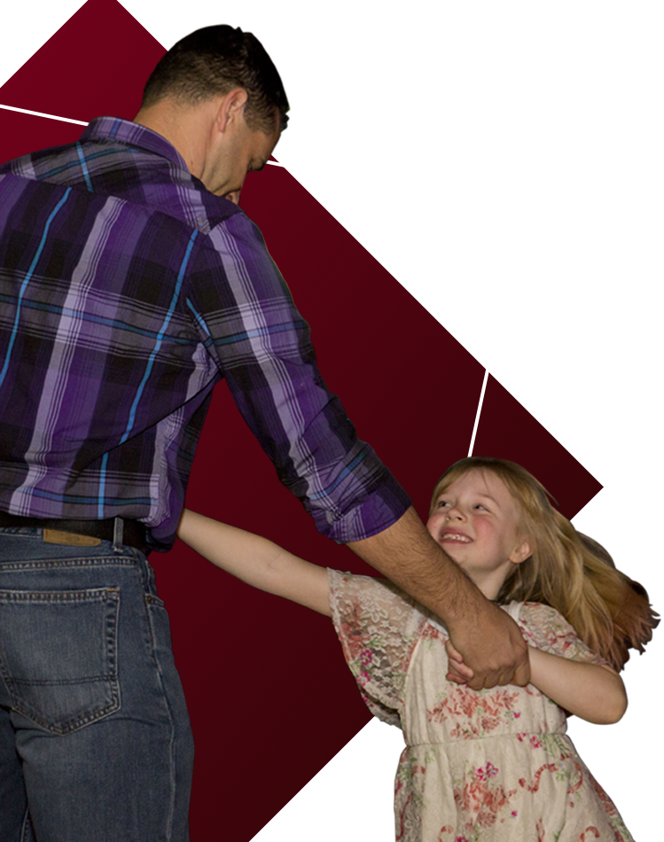 Dad Dancing with Daughter Transparency